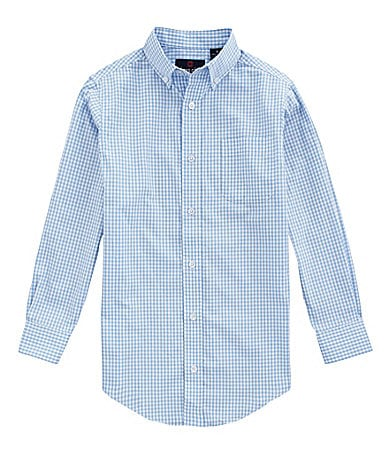 Class Club 8-20 Gingham Printed Poplin Shirt