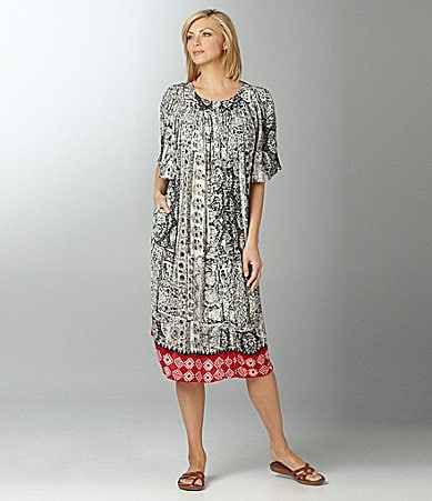 Go Softly Patio Bandana Print Patio Dress