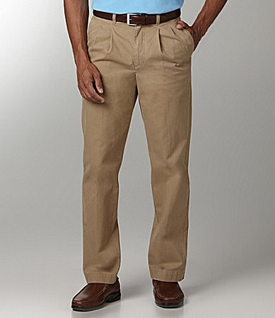 Roundtree & Yorke Trademark Pleated Twill Pants