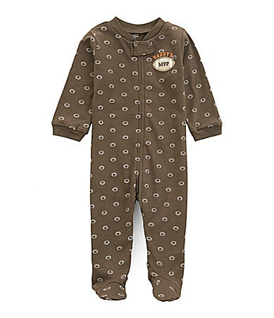 Carter�s Newborn Sleep-n-Play Football Footed Coverall