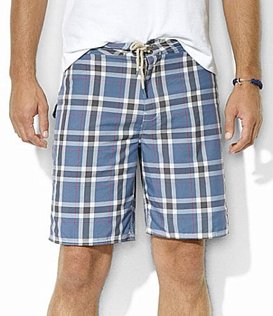 Polo Ralph Lauren Dering Harbor Plaid Swim Trunks