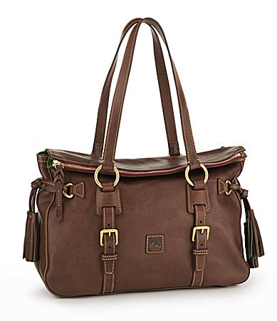 Dooney & Bourke Double Strap Tassel Satchel