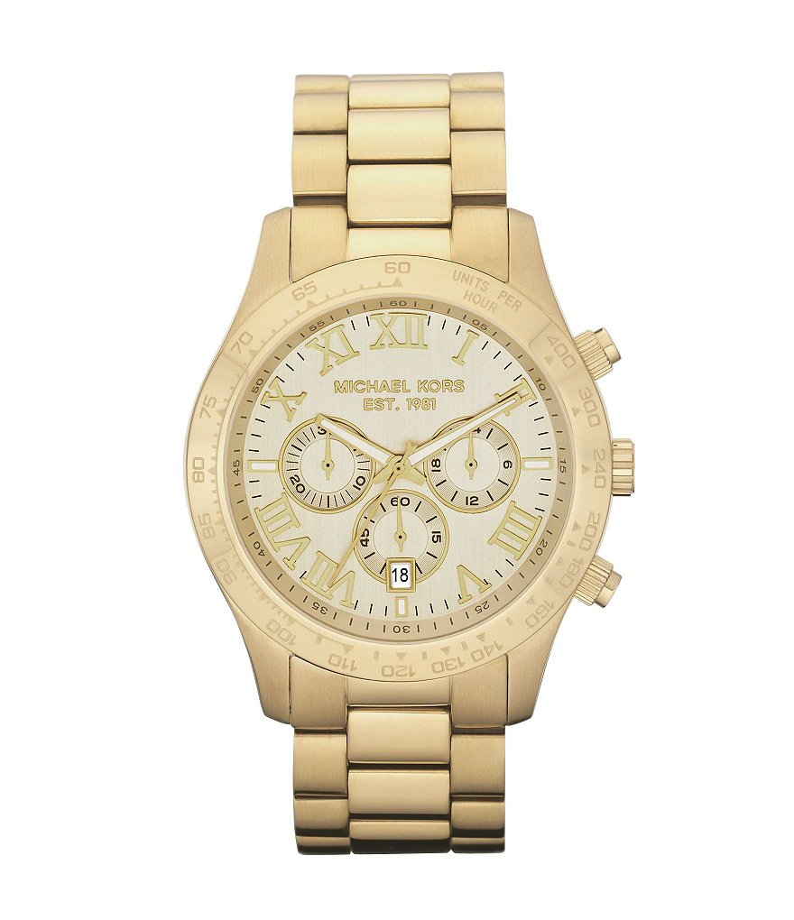 Michael Kors Layton Sport Stainless Steel Chronograph Bracelet Watch