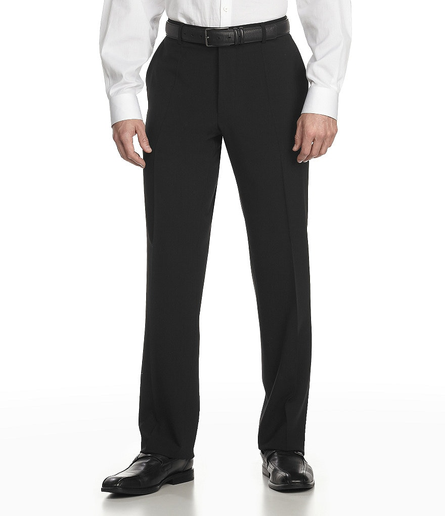 BOSS Hugo Boss Tailored Classic-Fit Flat-Front Wool Dress Pants