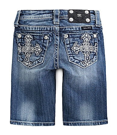 Miss Me Girls 7-16 Cross Pocket Bermuda Shorts