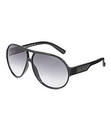 Armani Exchange Plastic Aviator Sunglasses
