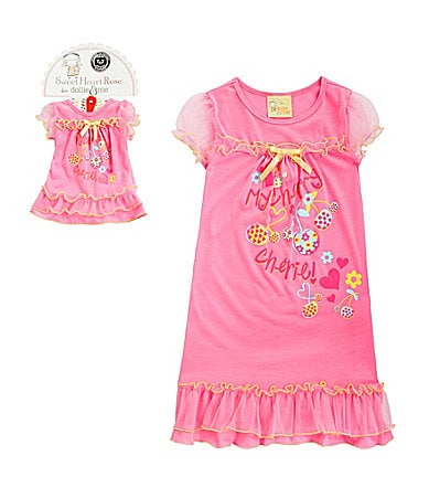 Sweet Heart Rose for Dollie & Me 2T-12 Cherry Gown with Doll Outfit