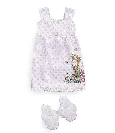 Fancy Nancy 2T-8 Charmeuse Gown & Slipper Set