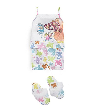 Fancy Nancy 2T-8 Butterfly Camisole, Shorts & Slippers Set