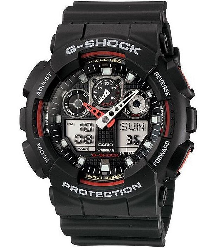 G-Shock XL Big Face Combi Black Resin Band Watch
