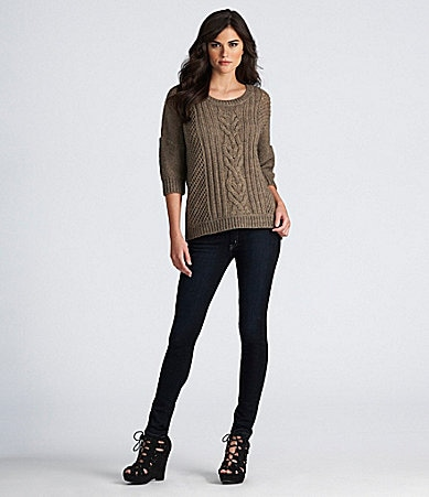 "Gianni Bini ""Apple"" Sweater &  ""My BFF"" Denim Jeggings"