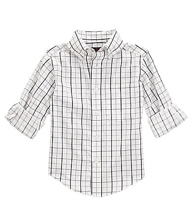 Class Club 8-20 Window Pane Printed Woven Shirt