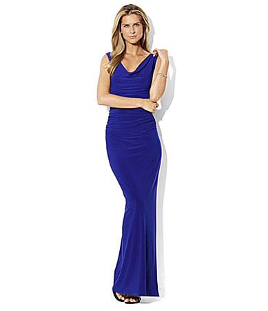 Lauren Ralph Lauren Ulli Cowlneck Floor-Length Dress