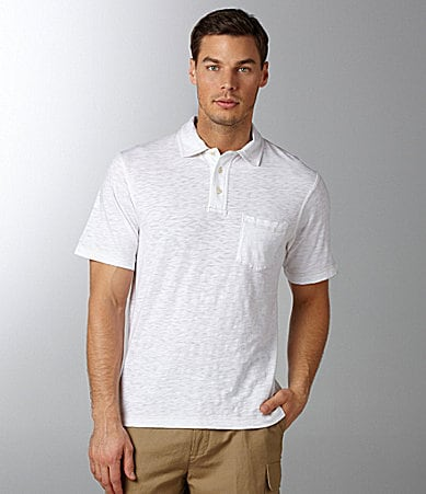 Cremieux Solid Slub Polo Shirt
