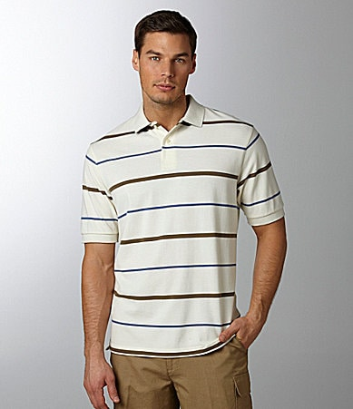 Cremieux Striped Polo Shirt