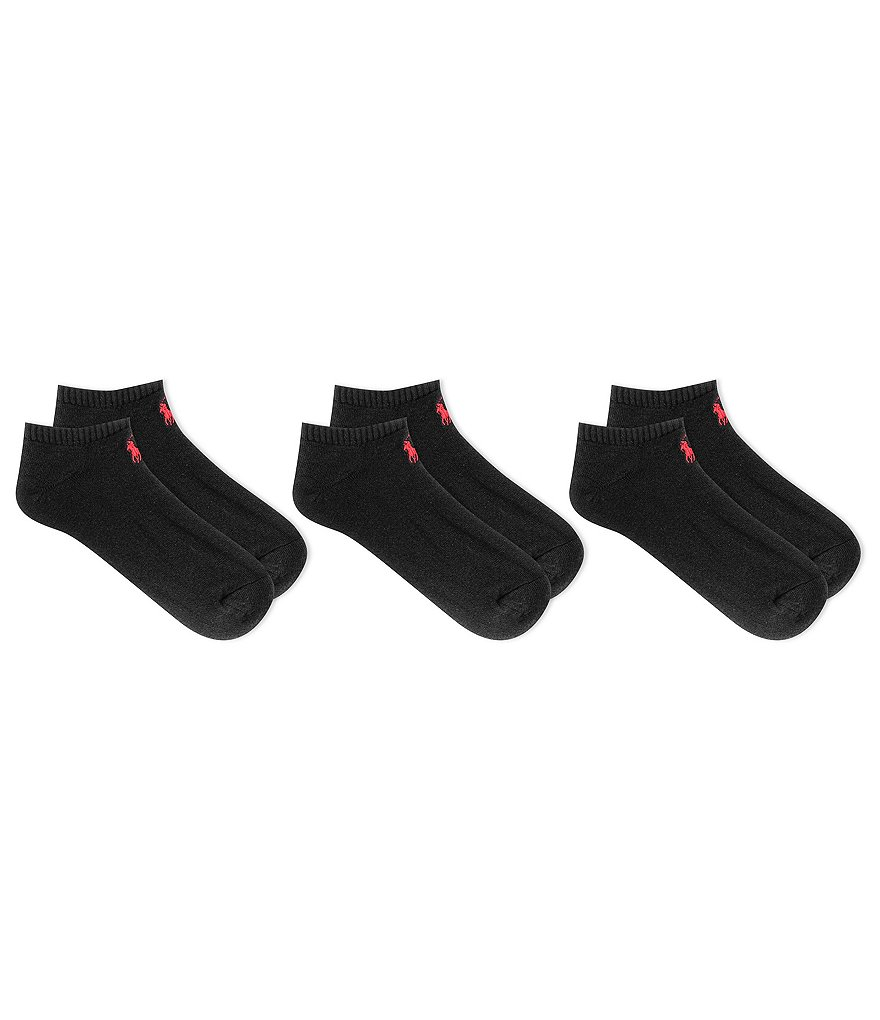 Polo Ralph Lauren Big & Tall Classic Cotton-Blend Socks 3-Pack
