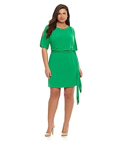 Jessica Simpson Woman Cold-Shoulder Tie-Waist Dress