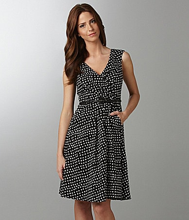 Jessica Simpson Woman V-Neck Polka-Dot Dress