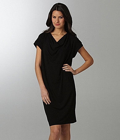 Eileen Fisher Drape-Front Dress
