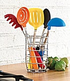 Fiesta 6-Piece Multi-Color Utensil Set  with Crock