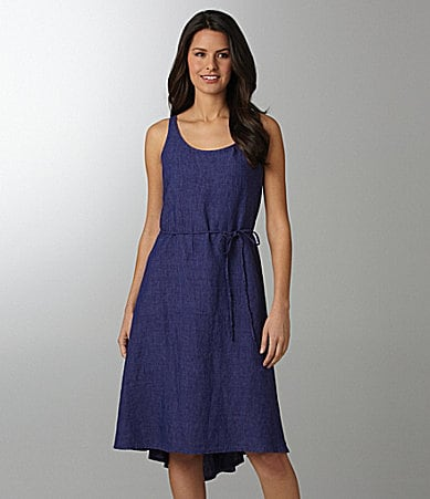 Eileen Fisher Linen Hi-Low Dress