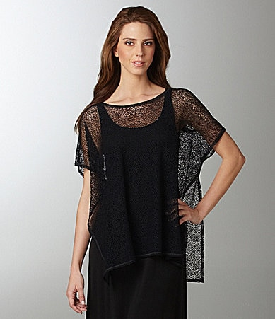 Eileen Fisher Lace Box Top