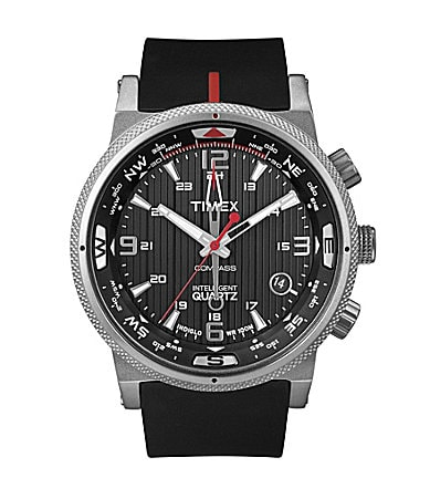 Timex IQ Black Silicone Strap Men�s Watch