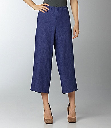 Eileen Fisher Petite Wide-Leg Crop Pants