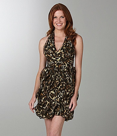 Calvin Klein Animal-Print Halter Dress