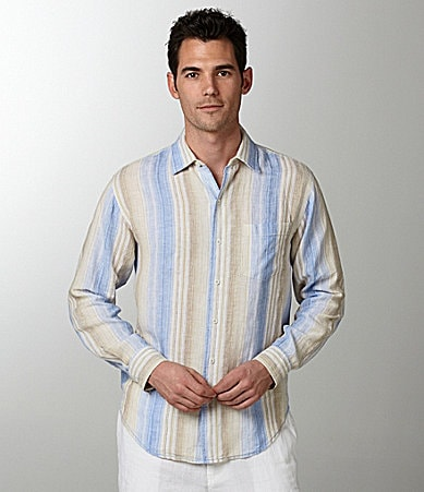 Caribbean Linen Striped Shirt