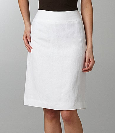Mix by Tahari ASL Linen-Blend Skirt
