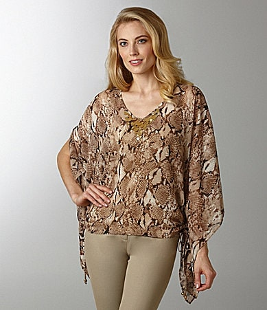 Ruby Rd. Animal-Print Blouse