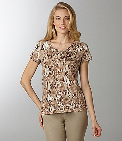 Ruby Rd. Woman Animal-Print Top