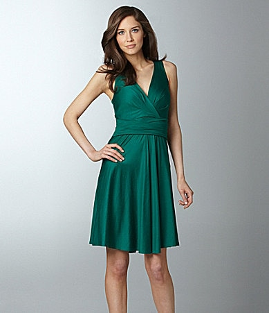 DKNY Ruche Banded Dress