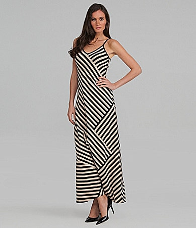 DKNY Modern Stripe Maxidress