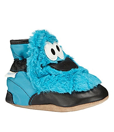 Robeez Infants 3D Cookie Monster Crib Booties