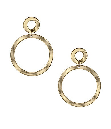 Dillard's Sensitive Skin Open Circle Earrings