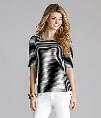 Cremieux Laura Striped Knit Top