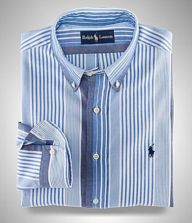 Polo Ralph Lauren Big & Tall Classic-Fit Bold Striped Sportshirt