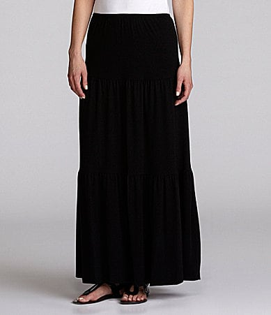 Ruby Rd. Petites Long Tiered Skirt