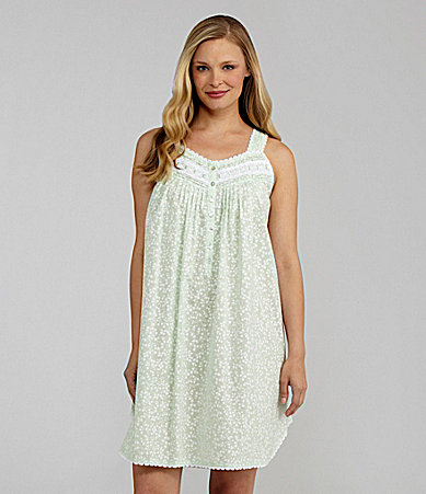 Eileen West Angelic Flower Short Sleeveless Nightgown