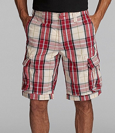 Cremieux Jeans Red Plaid Cargo Shorts
