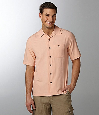 Caribbean Jacquard Silk Blend Camp Shirt