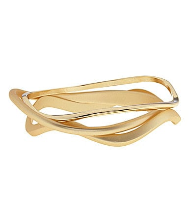 Dillard�s Boxed Collection Wavy Bangles Set