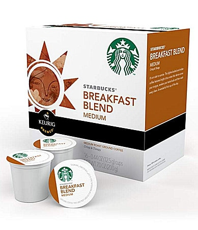 Starbucks Breakfast Blend Medium Roast Ground Coffee K-Cups