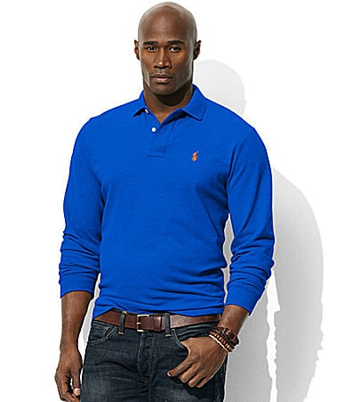 Polo Ralph Lauren Big & Tall Classic-Fit Long-Sleeved Polo
