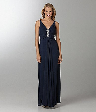 B. Darlin V-Neck Gown