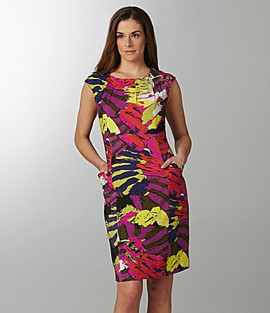 Sharon Young Washed Floral Shimmer Dress
