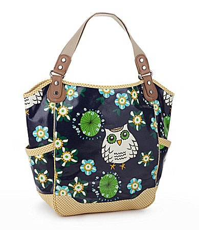 Kate Landry Coated Canvas Owl Tote