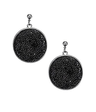 Haskell Jewels Caviar Disc Drop Earrings
